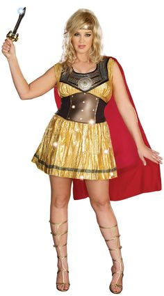 Gorgeous Golden Gladiator Plus Size #Halloween #Costume