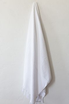 Michele Keeler White Bath Sheet
