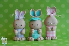 Three little bunnies #cake topper