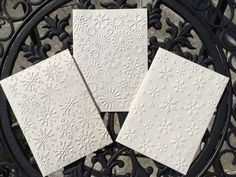 5 Snowflake Cards Christmas Card Set Choose your by Lufianti