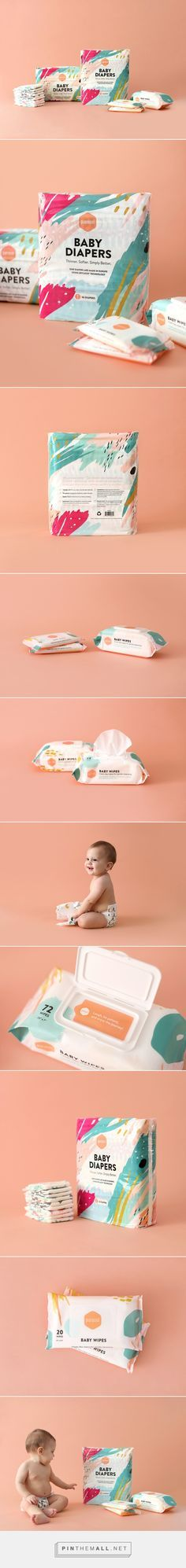 Parasol Co Diaper Subscription Packaging by James Prunean on Behance | Fivestar