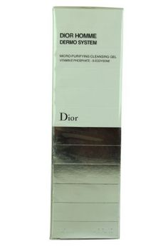 Dior Micro-Purifying Cleansing Gel 4.5 oz by Dior. $43.90. Design House: Christian Dior. What it is:A transparent cleansing gel.What it does:Dior Homme Micro Purify Cleansing Gel penetrates deep down to clarify skin morning and evening. Very light exfoliating micro-particles push on the epidermal surface to stimulate cell renewal.What else you need to know:The Dior Homme Dermo System Collection is the first dermatological skincare system designed to preserve the youthful a...
