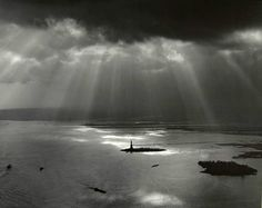 Tom Baril, The Statue of Liberty, New York Harbor (from the World Trade Center), 1977