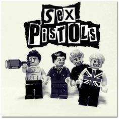 Sex Pistols -  music bands recreated in Lego !