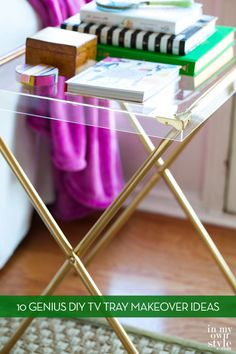 10 Clever Ways To Make Over Your TV Tray Tables » Curbly | DIY Design Community