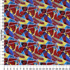 Amazing Spiderman Cotton Flannel Fabric