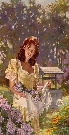 Beautiful Painting Of Maureen O'Hara