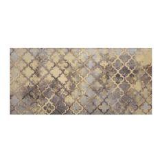 Gold Quatrefoil Grid Canvas Art Print   Kirklands