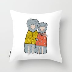 100% HAND DRAWN! Choosing the perfect design is not simple? Get now this unique Lovely Couple Sheep Love Hug High Quality Throw Pillow and dress your home!