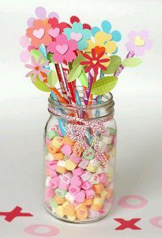 Pixy stix flowers- cute! Class treat