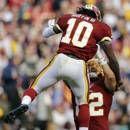 Week 11 Studs: Quarterback #RobertGriffinIII of the Washington #Redskins 200 passing yds 4 tds & 84 rushing yds.