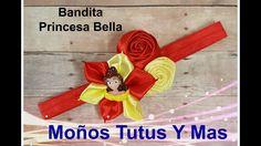 BANDITA BELLA Y LA BESTIA Paso a Paso BEAUTY AND THE BEAST HEADBAND Tuto...