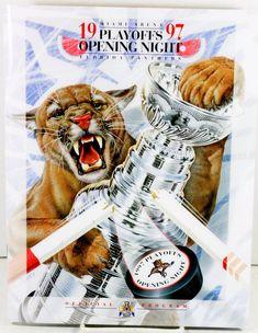 Florida Panthers NHL 1997 Opening Night Playoffs Program NY Rangers Plastic Case #FloridaPanthers
