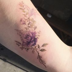 Violet roses by Tattooist Flower