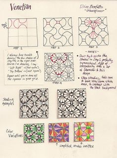 Great Zentangle patterns and tutorials