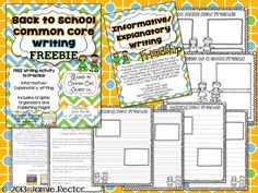 Writing {freebie} for back to school - what makes a good friend?