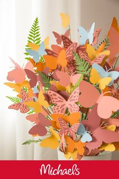 Make This Martha Stewart Butterfly Bouquet Project It Is A Cute DIY Home  Decor Paper Craft Idea.