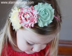 Simple Shabby Chic Flower headband you can create in a few minutes! @My Sunshine Shoppe - Wholesale Craft Supplies