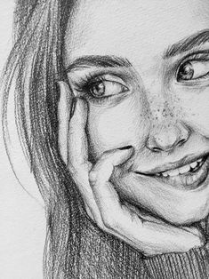 Custom pencil portrait from photo Drawing Techniques Pencil, Pencil Portrait Drawing, Pencil Drawings Of Girls, Girl Drawing Sketches, Art Drawings Sketches Simple, Portrait Sketches, Realistic Drawings, Portrait Art, Horse Drawings