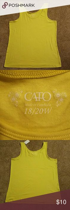 NWT CATO TANK 18 20 W Brand new.  Measures approximately 21 1/2 inches from armpit to armpit. Tops Tank Tops