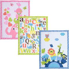 Baby Boom Mix and Match Crib Bedding Collection Bundle Love the alphabet quilt for the wall!!