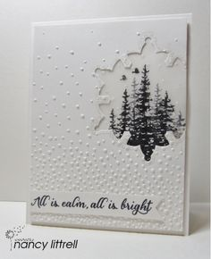 SU Wonderland by nancy littrell - Cards and Paper Crafts at Splitcoaststampers -. - SU Wonderland by nancy littrell – Cards and Paper Crafts at Splitcoaststampers – SU Wonderland - Homemade Christmas Cards, Stampin Up Christmas, Christmas Cards To Make, Xmas Cards, Homemade Cards, Holiday Cards, Christmas Sheets, Homemade Tools, Cards Diy