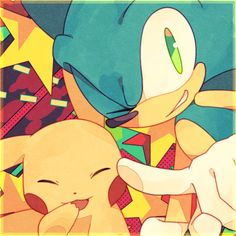 Pikachu and Sonic by Baitong9194 on DeviantArt