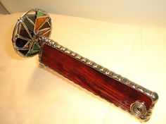 LT Stained glass red Kaleidoscope one wheel by UniqueStainedGlass, $38.00