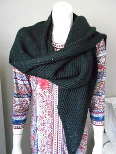 87617f25de9 NWOT CALVIN KLEIN KNIT BLACK SPARKLY SCARF OR SHAWL  fashion  clothing   shoes