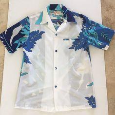 f4fb4331d Details about SEARS Hawaiian Aloha Tribal Barkcloth Tiki Mens Shirt Hukilau  Luau Med Vtg 70s