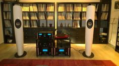 Kef Blade Speakers driven by McIntosh electronics High end audio Audiophile