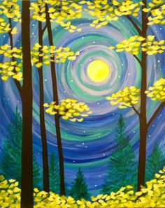 I am going to paint Hello Moon at Pinot's Palette - Spokane SoDo to discover my inner artist!
