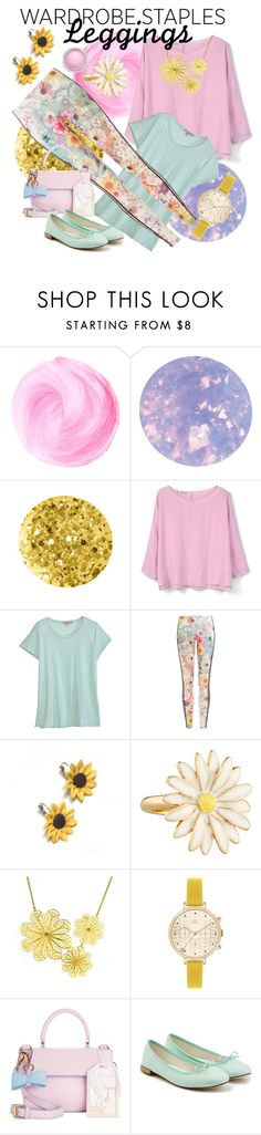 """""""Wardrobe Staples - Floral Leggings"""" by giovanina-001 ❤ liked on Polyvore featuring SpaRitual, Anna Sui, MANGO, Calypso St. Barth, adidas Originals, Summer and Silver, Kate Spade, Arabel Lebrusan, Orla Kiely and In Awe of You"""