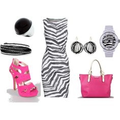 """""""Pink & Zebra""""  I love it all....if I had somewhere to go, that is!"""