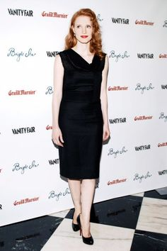 """September 2009: At the Vanity Fair party for Bright Star, while she was still best known for her stage work, Chastain already displayed her knack for simple elegance in a below-the-knee satin cocktail dress."" Check out this awesome slide show of Jessica's looks on VanityFair.com!"