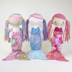 MerMae PDF Pattern - Really cute mermaids for those girls in your life who love them.