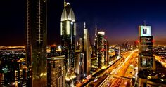 Sheikh Zayed Road is the main road in Dubai that connects south to north and runs parallel to the Persian Gulf. Sheikh Zayed Road host a number of hotels, apartments, metro stations and shopping malls.
