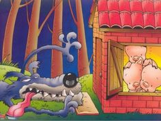 A 3 kismalac Famous Fairies, Huff And Puff, Piggly Wiggly, Three Little Pigs, Worksheets For Kids, Conte, Nursery Rhymes, Storytelling, Smurfs