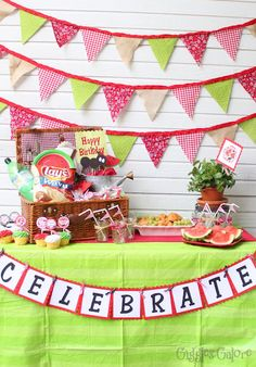 Giggles Galore: Watermelon Picnic {Party}