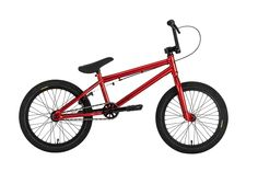 "Bakerized Action Supply - Premium Solo Gloss Candy Red BMX Bike 18"", $369.95 (http://www.shopbkr.com/premium-solo-gloss-candy-red-bmx-bike-18/)"