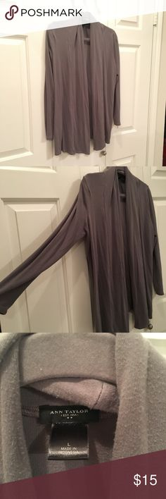 Gray cardigan Darker gray cardigan made of sweatshirt like material Ann Taylor Sweaters Cardigans