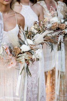 Boho bridesmaids dresses by Spell Designs Lilly Red Creative Australian Wedding Photographer- Destination Wedding Photography Byron Bay Weddings, Pampas Grass, Bride Bouquets, Bridesmaid Bouquets, Destination Bridesmaid Dresses, Destination Weddings, Floral Wedding, Boho Wedding Bouquet, Boho Wedding Flowers