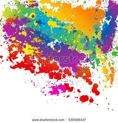 Colorful splashes background
