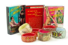 Hand crafted 2 piece stretch bangles and book clutches