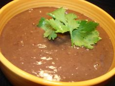 (Panera Bread) Black Bean Soup.  I love this soup at Panera and am hopeful that this soup will be similar!
