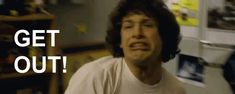 Andy Samberg - Get Out - Find and Share funny animated gifs Kid Movies, Movies And Tv Shows, How I Feel, How Are You Feeling, Andy Samberg, Horror Stories, Getting Out, When Someone, Make Me Smile