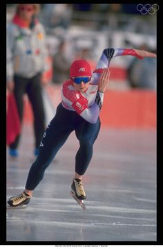 Albertville 1992-BLAIR Bonnie (USA) 1st, during the event. At Albertville. OLYMPICS