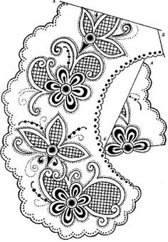 97401236_large_vor10__kopiya.gif 484×699 pixels Cutwork Embroidery, Embroidery Flowers Pattern, Types Of Embroidery, Flower Patterns, Embroidery Designs, Quilling Patterns, Craft Patterns, Vellum Crafts, Paper Crafts