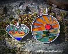 glass mosaic jewelry - Susan Crocenzi