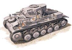 Лёгкий танк Panzer kampf II в разрезе